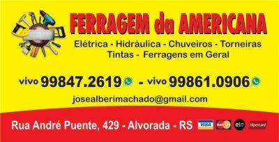 FERRAGEM DA AMERICANA – CHUVEIROS NO BAIRRO SUMARÉ EM ALVORADA
